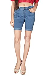 Focus Women's Silky Stertchable Denim Pedal Fit-30