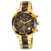 Michael Kors Chronograph Ladies Gold Tortoise Watch MK5246
