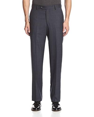 Berle Men's Plaid Wool Flat Front Pant