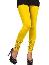 Siddhi Leggings Women Cotton Lycra Leggings(5_Yellow_Free Size)