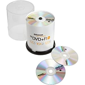 AmazonBasics DVD+R (100-Pack Spindle)