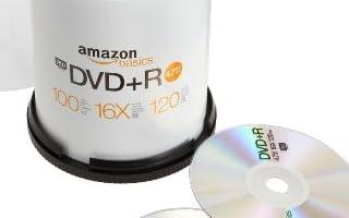 Amazonベーシック 4.7GB 16倍速 DVD+R (100枚入 スピンドルケース) [フラストレーションフリーパッケージ(FFP)]
