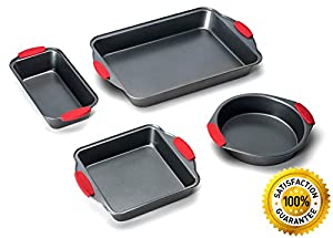 Elite Bakeware NonStick Baking Pans Set of 4
