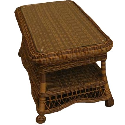 Classic Coastal Hampton Wicker Coffee Table