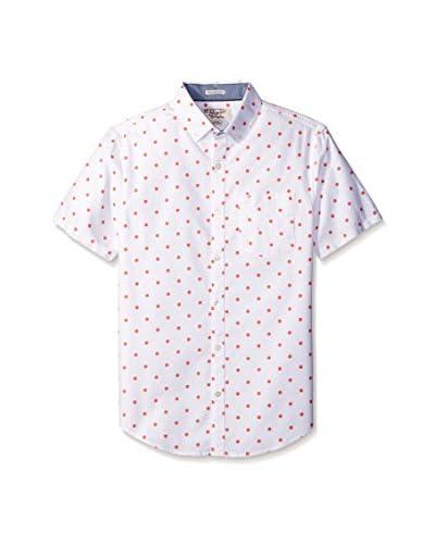 Original Penguin Men's Gl Polka Dot Oxford Short Sleeve Shirt