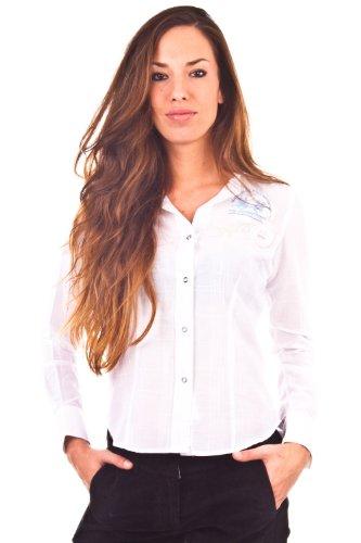 La Martina - Camicia - Collo Kent  - Maniche lunghe -  donna bianco X-Large