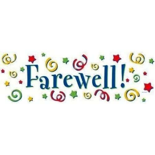 Creative Converting Giant Farewell Party Banner, 20 X 60 Inch