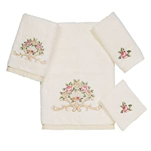 Avanti Linens Avanti Premier Royal Rose 4-Piece Towel Set, Ivory at Sears.com