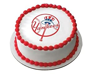 "3"" Round ~ MLB New York Yankees Baseball Logo ~ Edible Image Cake/Cupcake Topper!!!"