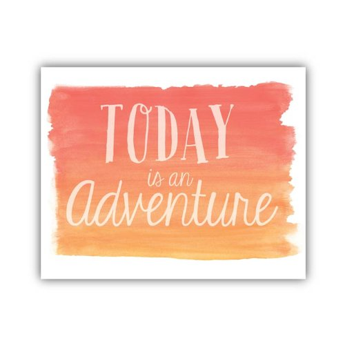 "Lucy Darling Watercolor Adventure Print Wall Decor, 5"" x 7"""