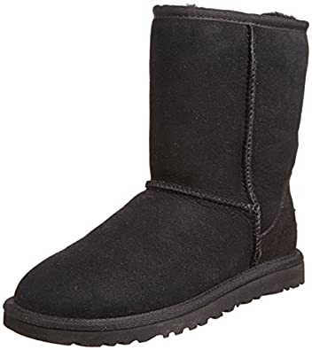 UGG Australia Classic Short Boots, Black, 6