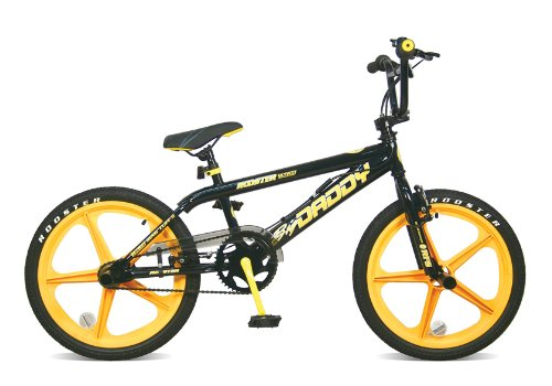 Skyway BMX Bikes http://bmxbikeruk.blog.com/rooster-big-daddy-bmx-bike-with-yellow-skyway-mags/