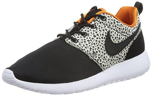 Nike Roshe One Safari (Gs) Scarpe da ginnastica, Bambini e ragazzi, Nero (Black/Black/Clay Orange/Summit White), 38