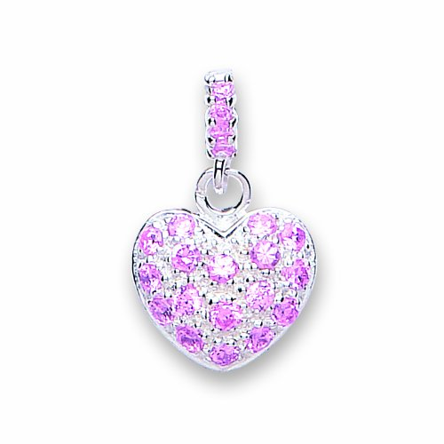 Jo For Girls Drop Heart Set with Multi Pink Cubic Zirconia from a Pink Cubic Zirconia Top