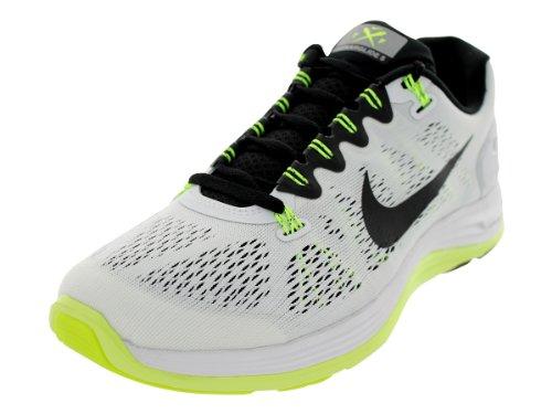 54c14bf1c411d Nike Men s Lunarglide 5 White Black Volt Nightshade Running Shoe 10 Men US
