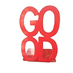 Tobson Good Book Cute Nonskid Bookends Art Bookend Decoration,A Pairs (Red)