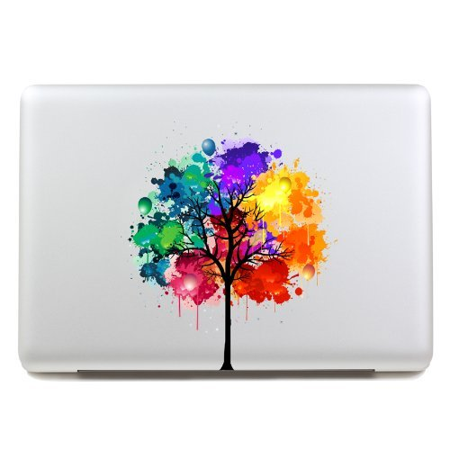 Great Features Of LoveDecalHome macbook decal colors tree Macbook sticker partial cover Macbook Pro ...