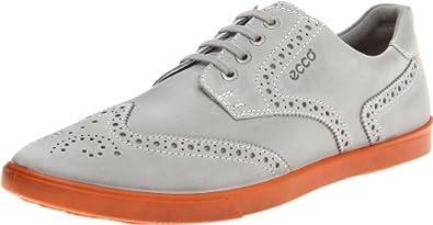 (暴跌)ECCO Men's爱步男士超酷休闲鞋灰色 Collin Wingtip Tie 99.97