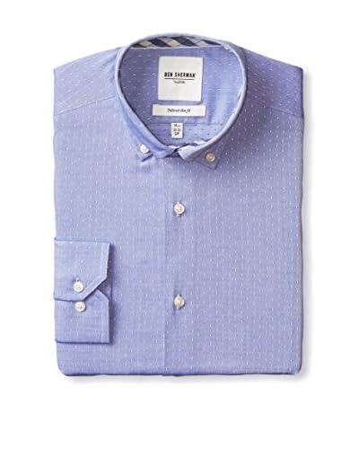 Ben Sherman Men's Textured Solid Button Down Collar Dress Shirt