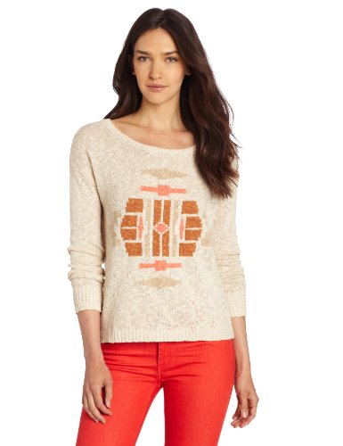 Lucky Brand Women's Intarsia Sweater Button Back by Lucky Brand