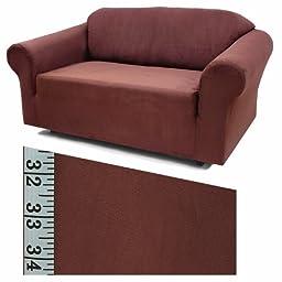 Stretch Suede Merlot Furniture Slipcover Chair 733