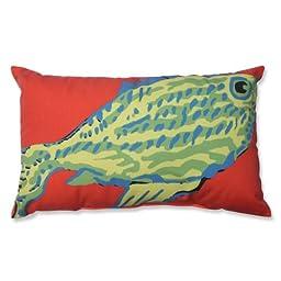 Pillow Perfect Rectangular Fish Throw Pillow, Blue and Green