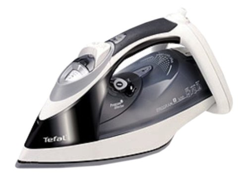 Tefal Program 8 FV9355 Steam Iron, Continuous Steam, Gloss Black, 2400 Watts