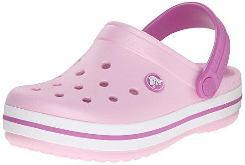 Crocs Crocband - Sabot Unisex-Bambini, Rosa (Ballerina Pink/Wild Orchid), 24-26