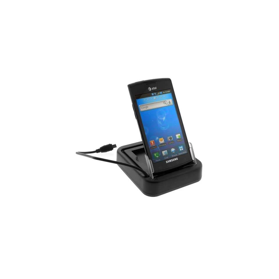 GTMax Sync & Charging USB Cradle Desktop Charger with 2nd Battery Slot for AT&T Samsung Galaxy S Captivate SGH i897