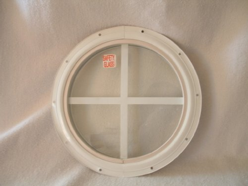 Images for Round Shed Window, White Small 10