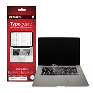 "MediaDevil Typeguard Clear edition keyboard protector for Apple MacBook Pro (13"" / 15"" - 2012, 2013 & 2014 *RETINA DISPLAY* models) - UK/EU only"
