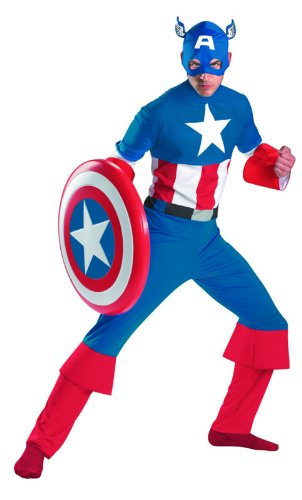Disguise Men's Marvel Captain America Classic Costume