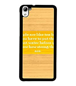 PrintDhaba Quote D-3939 Back Case Cover for HTC DESIRE 826 (Multi-Coloured)
