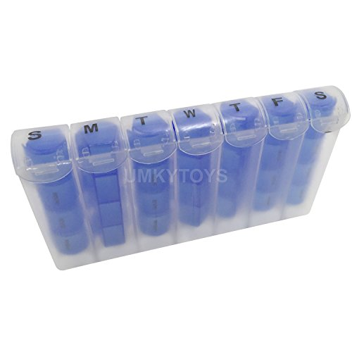 7Giorni AM PM Pill Box Tablet Dose giornaliera scatoline con mini pillola promemoria per farmaci