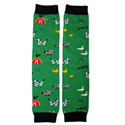Hugglugs Boys and Girls Farm Animals E-I-E-I-O Legwarmers