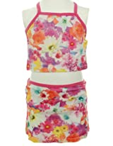 O'Neill Girls 2-6x Multi-colored Swim Set With Flowers