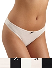 5 Pack Cotton Rich Low Rise Bikini Knickers
