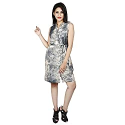 LALANA Multicolor Abstract Print Silk Dress