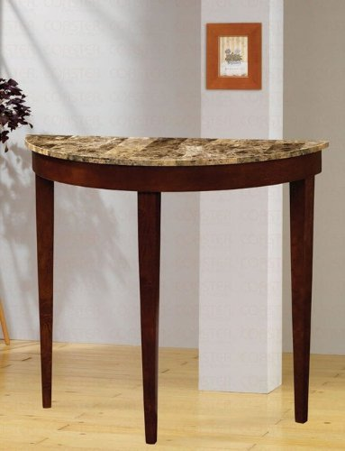 Faux Marble Top Console Table In Light Cherry front-661483