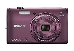 Nikon COOLPIX S5300 16 MP Wi-Fi CMOS Digital Camera with 8x Zoom NIKKOR Lens and 1080p HD Video (Plum)