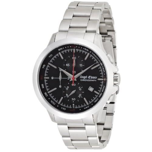 [エンジェルクローバー]Angel Clover 腕時計 ブラックウォーカー ブラック文字盤 クロノグラフ BW40SBK メンズ