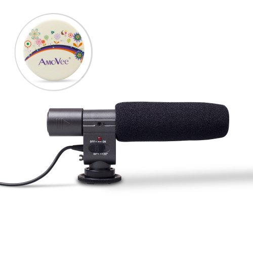 "Amovee Sg-108 Shotgun Dv Stereo Microphone For Canon Eos550D 600D Rebel T3I T2I Camera (Note: When You Switch ""Off"" To ""On"", The Light Will Flash Then Off For Power Saving. When The Light Is Flashing For Long Time Or It Always Flash During Use. Indicates"
