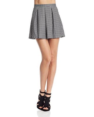 Rare London Falda White And Black Flared Skirt