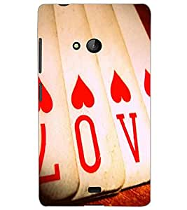 MICROSOFT LUMIA 540 LOVE Back Cover by PRINTSWAG