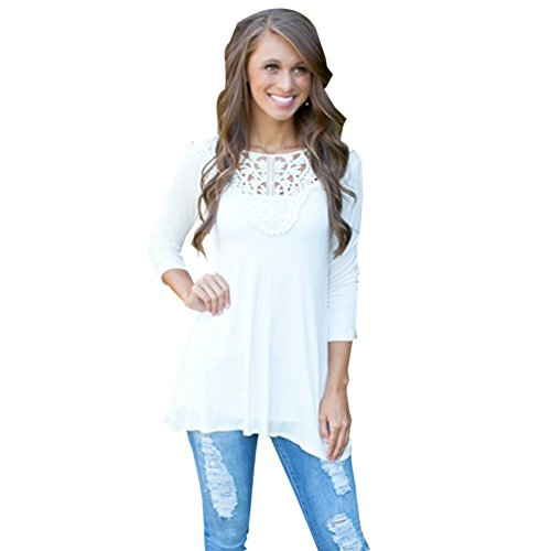 Blooming Jelly Women's Vintage Crochet Lace Blouse Tops Embroidery Shirt (Vintage Women Tops compare prices)