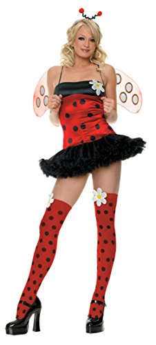 Leg Avenue Womens Daisy Bug Ladybird Insect Outfit Fancy Dress Sexy Costume