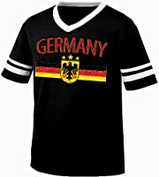 Germany Eagle Crest International Soccer Ringer T-shirt, German Soccer Mens Ringer T-shirt