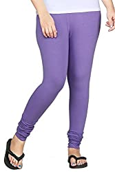 Lal Chhadi women's Viscose Lycra Light Purple Chudidaar Leggings.