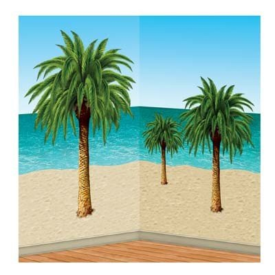 Palm Tree Props Party Accessory (1 Count) (6/Pkg) front-932881