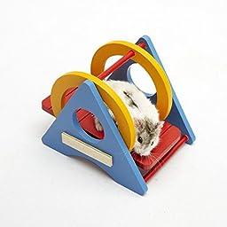 Wholesalekin Hamster Chinchilla Rainbow Swing Pet Toy Small Animal Toys (1pcs)